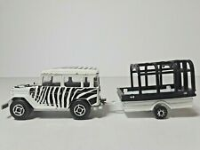 MAJORETTE Toyota Zebra Safari Die Cast Vehicle No 277 w/ Trailer FRANCE