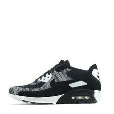 Nike Air Max 90 Ultra 2.0 Flyknit Women's Trainers Shoes Sneakers, Black/White