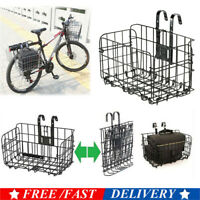 Foldable Bicycle Bike Basket Front Rear Metal Carrier Storage Hanging Holder US