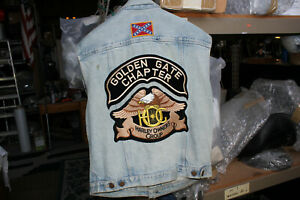 MY FIRST motorcycle riding jean vest Harley FXR FXRT Golden Gate Hog EPS22459