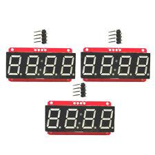 3x LED Display Module HT16K33 I2C 0.56'' 4 Digit Seven-Segment for Arduino