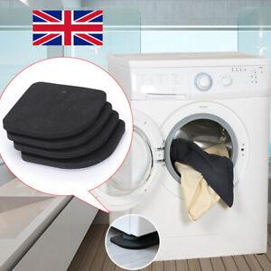 4x Anti-Vibration Pads Anti-slip Noise-reducing Washing Machine Feet No-slip Mat
