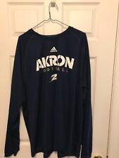 Adidas Akron football Team Long sleeve Shirt - Brand New - navy - climalite -2XL