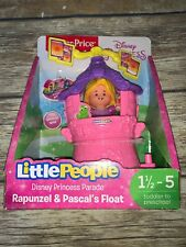 Fisher Price Little People Rapunzel & Pascal's Float Disney Princess Free Ship
