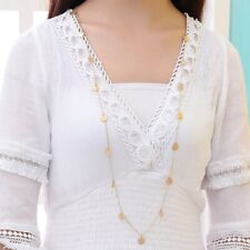 NEW Bohemian Personality Long Sequins Chain Pendant Necklace Statement For Women
