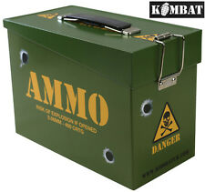 Combat Kids Army Ammo Metal Storage Box Ammunition Surplus Tin Sandwich Tool Box