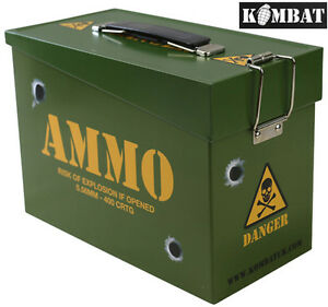 Combat Kids Boys Army Toy Ammo Metal Storage Money Box Tin Sandwich School Tool