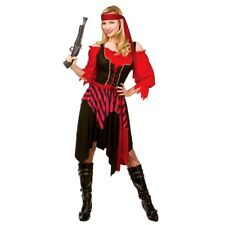 Adult Budget SHIPWRECKED PIRATE Fancy Dress Lady Caribbean Costume UK Sizes 6-28
