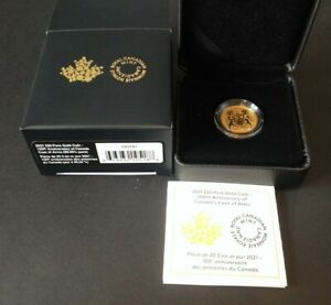 2021 Canada $20 Pure Gold Coin – 100th Anniversary of Canada's Coat of Arms