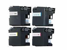 4 Tinte Patronen original Brother LC221 für DCP-J562DW MFC-J480DW wiederbefüllt