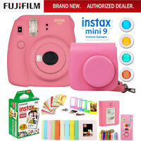 Fujifilm Instax Mini 9 Instant Camera + Case, Gift Accessories & Film Bundle