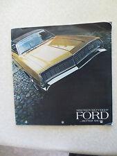 1968 Ford LTD & Galaxie & Custom cars advertising booklet