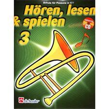 Hören lesen und spielen Band 3 - Schule für Posaune in C im Bass-Schlüssel (+CD)