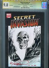 Secret invasion#1 CGC 9.8 Signed and Sketch By Mark Texeira and Michael Lily