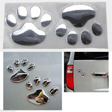 Car Window Body Bumper Stickers Kawaii Dog Animal Footprint Decal Accessories