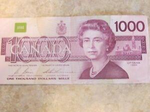 $1000 Canadian bill