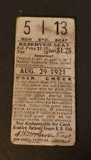 1921 Brooklyn Dodgers Ticket Stub