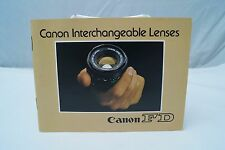 Canon customer sales brochure on Cano Fd lenses 1979