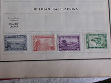 4 Different Ruanda-Urundi Postage Stamps/Belgian East Africa/Hinged/Unused