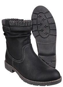 Divaz Lucca Mid Calf Zip Up Womens Smart Casual Fashion Boots Shoes UK3-8