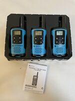 Motorola Solutions TalkAbout Two-way Radio T1xx Series Lot Three 3 Walkie Talkie