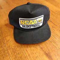 VTG 90s Sports Specialties Snapback Hat Youngan NCAA Basketball Black felt patch