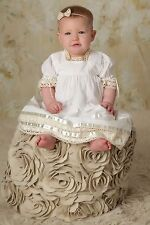 Boho Flower Girl Dress Heirloom Clothing Baptism Dresses Strasburg Children NEW