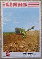 Claas Dominator 105 & 85/85H Combine Harvester sales brochure