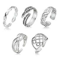 Amberta 925 Sterling Silver Ring for Women Celtic Band and Adjustable Open Rings
