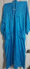 Vintage esme L 100 % silk blue 2 pocket long robe