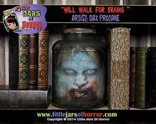 Zombie Head in Jar Halloween/Horror Prop/Decor/Art- Fetid Green Version