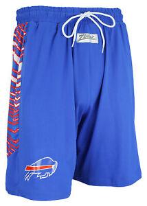 Zubaz NFL Men's Buffalo Bills Team Logo Zebra Side Seam Shorts, Blue