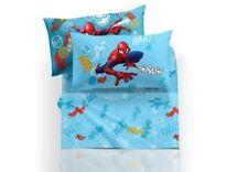 Completo Lenzuola Spiderman Graphic Azzurro una Piazza e mezza CALEFFI Marvel