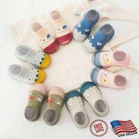 USA Cartoon Kids Girl Boy Toddler Baby Anti-Slip Socks Slipper Crib Shoes Boot