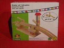 TTC beeboo Holz - große Brücke mit Schranken NEU OVP - The Toy Company Eisenbahn