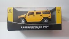 NEW Hummer H2 ~1:24 Scale Friction Car by BRAHA ~ Yellow