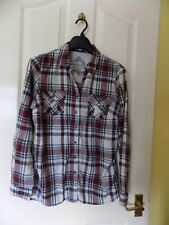 Ladies Marks and Spencer Indigo Check Shirt size 12