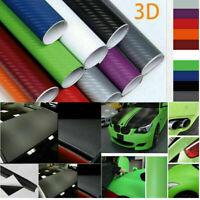 3D Carbon Fiber Texture Matte Vinyl Car Wrap Sticker Decal Film Sheet Bubble
