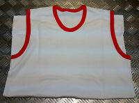 "Genuine British Military Issue PTI White Vest With Red Trim Size 102cm /40""  NEW"