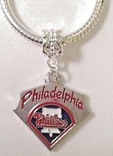 Philadelphia Phillies Charm For Euro Charm Bracelet MLB BASEBALL Sports QUALITY