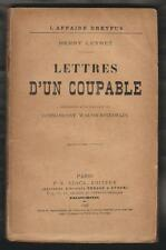 HIST.Affaire DREYFUS. Lettres d'un coupable par Henry Leyret.1 Edt P-V STOCK1898