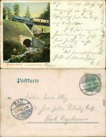 Ansichtskarte Ilsenburg (Harz) Brockenbahn (Brocken) Thumkullentunnel 1903