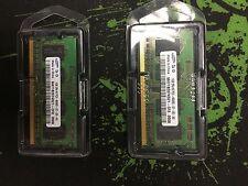2PS 1GB (2x1GB) Samsung SO-DIMM DDR3 1066 MHz SDRAM Notebook memory Test OK