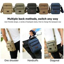 Men Canvas Crossbody Shoulder Sling Bag Zipper Casual Travel Messenger Satchel