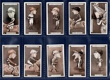 More details for players racing caricatures  (horse racing) - 1925 set