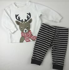 Carter's Reindeer Outfit Set Baby Boy 6 Months Winter Christmas Shirt Pants
