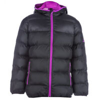 adidas girls black padded coat with hood. Water repellent. Various sizes!