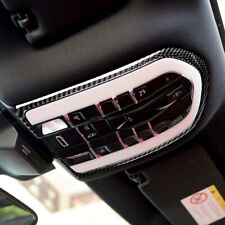 Real Carbon Fiber Roof Reading Lamp Cover Trim Fit For Porsche Macan Cayenne