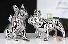 Keramik-Sparschwein. STEHT Französisch Bulldogge, Länge 20 cm