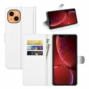 Handyhülle für Apple iPhone 13 Schutztasche Case Cover Klapptasche Etuis Weiß
